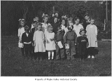Crosson School's Sunday school for children, King County, ca. 1916