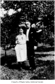 Bertha (Bertel) and Vernon Habenicht standing outside on the Logar Ranch in Landsburg, 1925