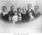 Habenicht family portrait, possibly in Ravensdale, March, 1917