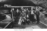 Russell and Ames Mill workers group portrait, Maple Valley, 1886