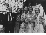 W.D. Gibbon with his wife and the Maxwell sisters, probably in Maple Valley, August, 1939