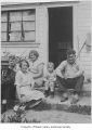 Crosson family outside a house probably in Maple Valley, ca. 1935