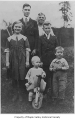 Anna Gruenes and her grandchildren standing outside, probably in Taylor ca. 1912