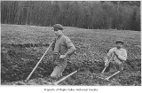 Ferdinand Taggert ditch digging with friend, probably in Maple Valley, n.d.