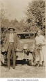 Edward and Carrie Fenell standing next to a car, possibly in Hobart ca. 1928