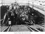 Hyde Mine miners in Cumberland, 1912