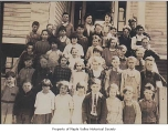Berrydale School showing students outside school entrance, Covington, ca. 1922