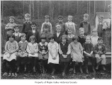 Maple Valley Grade School third grade class portrait taken outside, Maple Valley, 1924