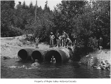 Old swimming hole called The Bowl in Hobart, ca. 1930