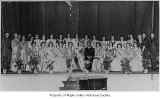 Miss King County: 24 queens and Governor Langlie, ca. 1940