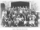 Tahoma High School freshman class with Jessie Riffe, Maple Valley, 1936