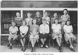 Hobart School graduating class of 1951 as school children with Miss Perkins, Hobart, n.d.