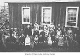 Maple Valley School students and faculty outside school, Maple Valley, ca. 1890