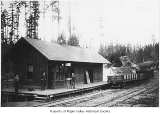 Pacific Coast Railroad Company depot exterior, Maple Valley, 1892