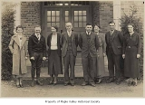 Tahoma High School faculty standing outside the school, Maple Valley, ca. 1930