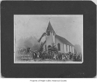 Church and congregation standing outside, Taylor, August 30, 1914