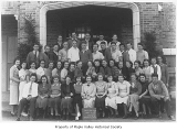 Tahoma High School sophomore class with advisor Mildred Schmit, Maple Valley, March 25, 1937