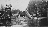 Gaffney's Lake Wilderness Resort diving platform, slide and dance hall, Maple Valley, n.d.