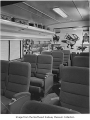 Great Northern Empire Builder coach interior, ca. 1955