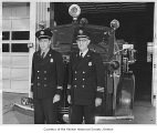 Renton Fire Department Chief Floyd Lawrence with Assistant Chief Scotty Walls, Renton, October 8,...