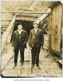 George Thomas and James Crook at the opening of Black Diamond Mine, Black Diamond, 1925
