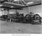 William and Swanson garage interior showing engines for General Sherman tanks, Renton, ca. 1943