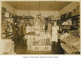 Square Deal Grocery interior, Renton,  ca. 1925