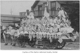 Girls on Fourth of July parade float, Renton, 1900