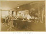 Alki Saloon interior showing Dave Boiseau and Tom Swift behind the bar, Renton, n.d.
