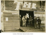 Kassner Brothers blacksmith shop exterior, Renton, January, 1912