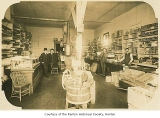 Williams and McKnight groceries, hardware and feed store interior, Renton, before 1914
