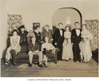 Renton High School production cast of 'The Patsy' on stage, Renton, 1930