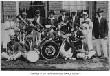 Renton High School Band outside the school, Renton, 1911