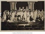 Renton High School production cast of  'Barbaroso of Barbary' on stage, Renton, 1929