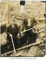 Jim Jones and Ed Jones at Black Diamond Mine, Black Diamond, 1925