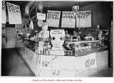 Duncalf Meat Market, interior, Renton, ca. 1930