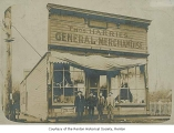 Thomas Harries General Merchandise store and Post Office exterior, Renton, 1901