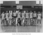 Renton High School track team in the gym, Renton, 1934
