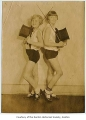 Eileen O'Hara Button and Betty Rotermond, child performers at eleven years of age, possibly in...