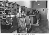 Combination store, soda fountain and deli, interior, probably in Renton, ca. 1905