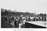 Liberty Park, view of grandstand and crowd, Renton, n.d.
