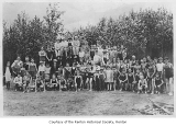 Dick Clarke's Y.M.C.A. swim class at Lake Washington, Renton, ca. 1925