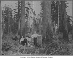 Family in the woods, possibly in Renton, before 1900