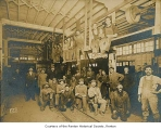 Denny-Renton Clay & Coal Company plant interior showing workers posing, Renton, n.d.
