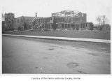 Renton High School exterior during remodel, Renton, 1941