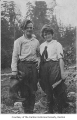 Francis Kane and Hannah Evans at the Cedar River, probably in Renton, n.d.