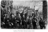 Hunters with rifles and dead deer, probably in Renton, n.d.
