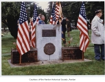 Legionnaires at Veteran's War Memorial, Mount Olivet Cemetery, Renton, 1990