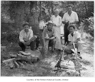 Henry Moses, Joe Moses, George Moses, Archie Beerman and two others at old time athlete's picnic,...