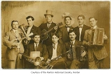 The Band, including Arturo Gregoris, Charles Zilli, Edward Zilli, and six others, possibly in...